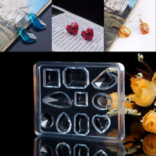Geometric Jewelry Mold DIY Pendant Earring Silicone Resin Craft Making Tool