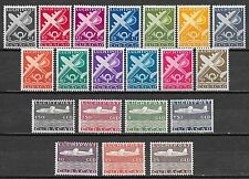 Curacao stamps 1947 NVPH Airmail 69-88  MLH  VF