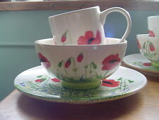 Poppy x 2 Breakfast sets ( Plates,Bowls, Mugs) by Going Pottie ,Dunkeld Scotland
