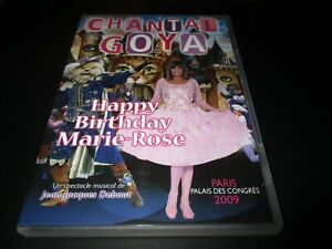 """DVD """"CHANTAL GOYA HAPPY BIRTHDAY MARIE-ROSE"""" spectacle Palais des Congres 2009"""
