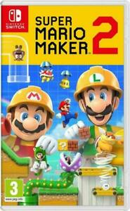 SUPER MARIO MAKER 2 NINTENDO SWITCH GAME BRAND NEW FACTORY SEALED