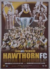 2008 HAWTHORN GRAND FINAL PREMIERSHIP POSTER HAND SIGNED BY LANCE FRANKLIN