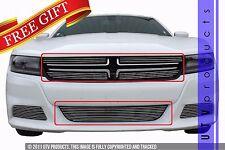 GTG 2015 - 2017 Dodge Charger 5PC Polished Overlay Billet Grille Grill Kit