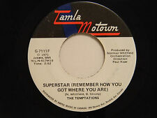 Temptations 45 SUPERSTAR bw GONNA KEEP ON TRYIN'...   Tamla Motown M- soul