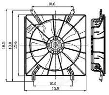 Engine Cooling Fan Assembly fits 2002-2011 Honda Element CR-V  GLOBAL PARTS