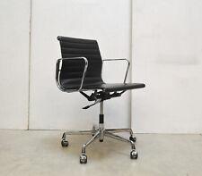 VITRA EA117 Alu OFFICE Chair BÜRO Stuhl SCHWARZ // Eames Drehstuhl LEDER