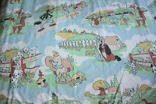 Vintage Disney Dumbo Elliot Aristocats Robin Hood Duvet Cover Pillowcase Twin Be