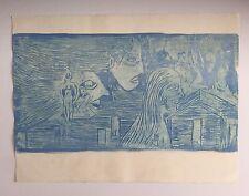 Salvador Benitez, Signed Faces Woodcut (grabado) 1992, Grabado Puerto Rico Art