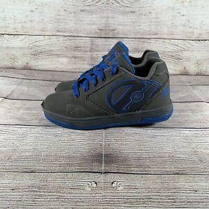 Heelys Propel 2.0 770508 Gray Blue Skate Shoes Boys Youth Size 3