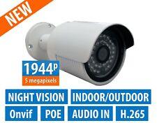 5 Megapixel H.265 Ip Camera Bullet Poe 3.6mm