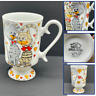 Royal Crown Arnart Smug Cat Pedestal Coffee Cup Mug Novelty Drinkware Hearts