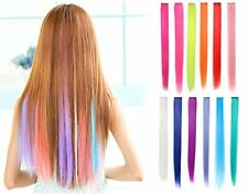 OneDor 23 Inch Straight Colored Party Highlight Clip on in Hair Extensions Mul..