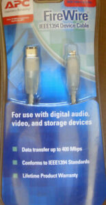 NEW APC FIREWIRE IEEE 1394  Cable digital audio, video, storage devices 14.7' ft