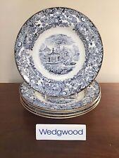 Wedgwood CHINESE BLUE Etruria Large Rim Soup Bowls ~ Set of 5