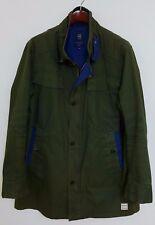 XZS364 Men G-Star Raw Denim Green Cotton Jacket Size XXXL