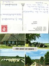 510101,Netherlands Drente Schoonebeek Brunnen Schafherde Mehrbildkarte