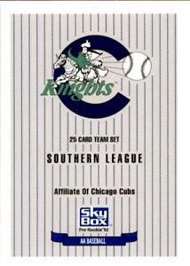 1992 Charlotte Knights SkyBox #NNO Logo Checklist - NM Baseball Card