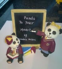 Vintage Doverdale Designs Panda To Your Heart Figure Boxed