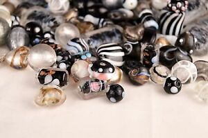 10mm to 24mm Mixed Glass Lampwork Beads