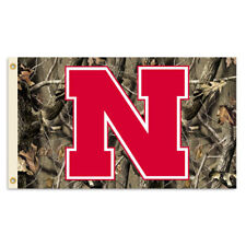 Bsi Products Inc Nebraska Cornhuskers Flag with Grommets - Realtree Camo