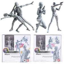 S.H.Figuarts Body Kun & Chan Dx Pvc Action Figure Artists Drawing Gift Grey Ver.