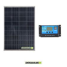Battery Charging Kit Solar Panel 150W 12V Charger Controller Boat Caravan vehicl
