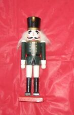 Collectible Wooden Soldier Nutcracker w/candle holder in hat