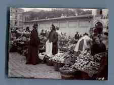 Germany, Koblenz, Scene at the Market  Vintage citrate print. Vintage Germany.
