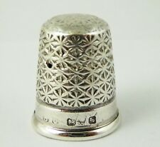 Antique 1900s Hallmark Sterling Silver Sewing Thimble Silversmith Charles Horner
