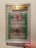 CONOR McGREGOR / FLOYD MAYWEATHER 2017 Leaf Metal Sports Heroes 1 of 1 BGS 1/1