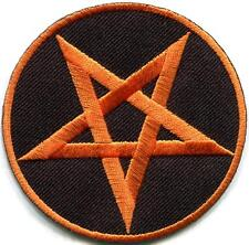 Pentagram pentacle satanic occult goth wicca witch applique iron-on patch S-1175