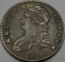 1818 O-107 Capped Bust Half Dollar Choice EF+... So Nice & Original, Great Look!
