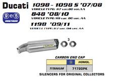 DUCATI 848 1098 1198 08 09 10 11 EXHAUST SLIP ON ARROW St Thunder TITAN EEC