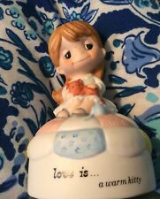 Love Is....a warm kitty/(Extremely RARE)Music Box Kim Casali Schmid 1970