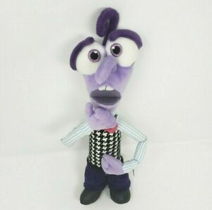 "12"" DISNEY STORE INSIDE OUT PURPLE FEAR STUFFED ANIMAL PLUSH TOY DOLL PIXAR SOFT"