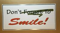 "Joker Don't Forget to Smile 12"" X 24"" Movie Poster bar joker joaquin phoenix NEW"