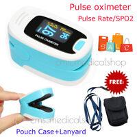 Pulso Dedo Oxigeno Pulsioximetro oximeter Pulsómetros BLUE  100% Garantie-CMS50n