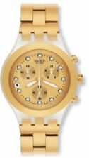 Swatch Men's SVCK4032G Stainless Steel Analog Watch with Gold-Tone Dial