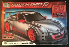 New MEGA BLOKS PORSCHE 911 GT3 RS NEED FOR SPEED 638 PIECE 95722 Box Wear Free