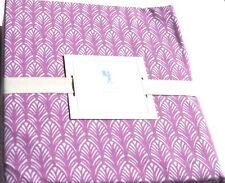 3pc Twin Sheet Set Pottery Barn Kids Feather Plumes Raspberry Purple geometric