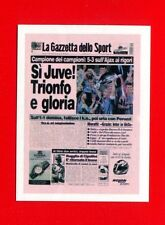 SUPERALBUM Gazzetta - Figurina-Sticker n. 185 - SI JUVE!! - GAZZETTA -New