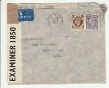 """Great Britain  'Perfin Censored Cover'  """"MB&W""""  1943"""