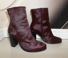 TOP DESIGNER All Saints HESSIAN PONY HAIR LEATHER BOOTS SIZE 7