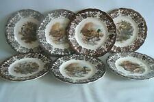 Vintage Royal Worcester Palissy Game Series Dinner Plates X 7 Size 9.3/4 inches