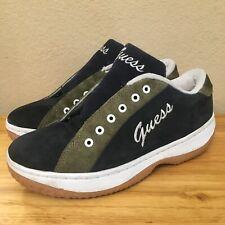 Vintage 90s GUESS Athletics Skateboarding Shoes 9 Rare Suede Grunge Cursive Vtg
