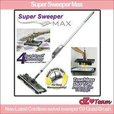 Super Sweeper Max - New Latest Cordless swivel sweeper G9 Quad-Brush