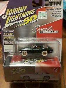 JOHNNY LIGHTNING 1963 CORVETTE SPLIT WINDOW**WHITE LIGHTNING**VHTF!! COOL!! LOOK
