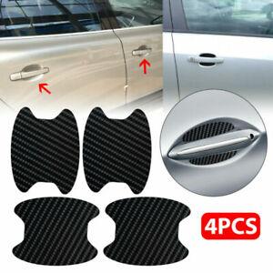 4PCS Carbon Fiber Car Door Handle Protector Film Anti-Scratch Stickers