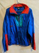 VTG Columbia Windbreaker Jacket Color Block Full Zip  Men's L