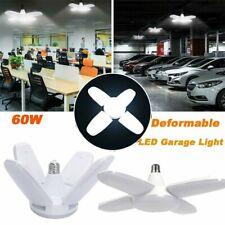 New listing 60W Deformable Led Garage Light Panels Ceiling Lamp Workshop Lights E27 Bulbs Us